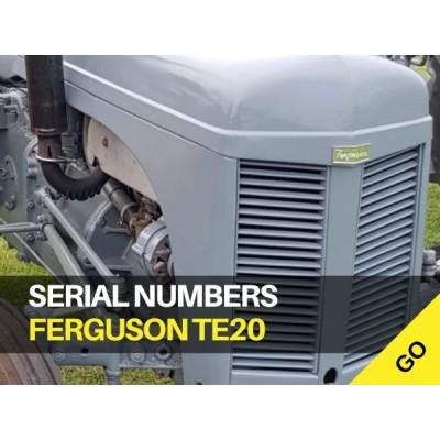 Ferguson TE20 Serial Numbers