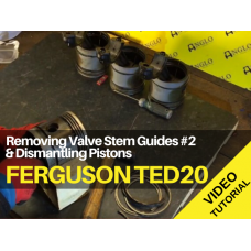 Ferguson TED20 - Removing Valve Stem Guides #2 & Dismantling Pistons Tractor Video
