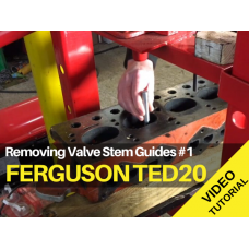 Ferguson TED20 - Removing Valve Stem Guides #1 Tractor Video