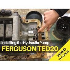 Ferguson TED20 - Installing The  Hydraulic Pump - Video