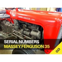 Massey Ferguson 35, FE35, 35X Serial Numbers