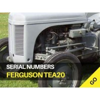 Ferguson TEA20 Serial Numbers