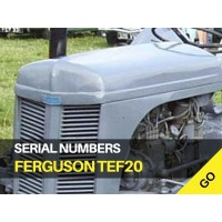 Ferguson TEF20 Serial Numbers