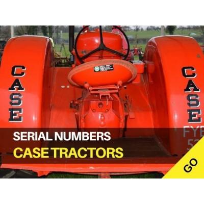 Case International Harvester Serial Numbers