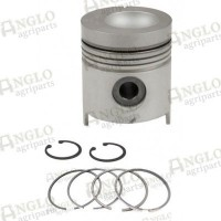 Piston & Rings - Length 129.04mm, Al-Fin Ring