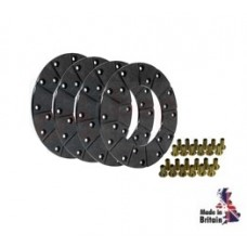Brake Disc Lining Kit (4 Linings c/w Rivets)