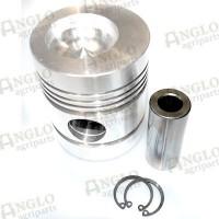 Piston & Pin - 91.35 mm Bore, Pimple Bowl, 5 Ring - Perkins AD3.152, AD4.203