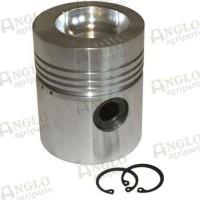 Piston & Pin - 90.75mm Bore Plain Bowl 4 Ring - Perkins AD3.152, AD4.203