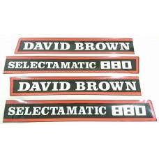 David Brown 880 Selectematic Decal Set