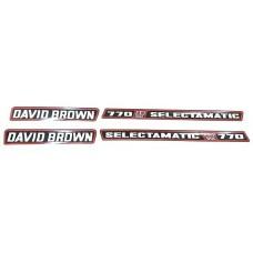 David Brown Selectamatic Decal Set