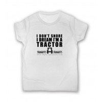 """"""" I DON''T SNORE """" - T-Shirt - Size M"""