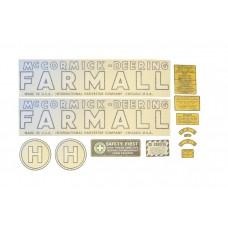 Farmall H Mylar Decal Set 1939-1944