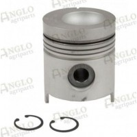 Piston & Pin - .040 Oversize - Length 129.04mm, Al-Fin Ring