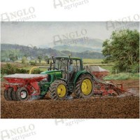 One Pass Seeder Greeting Card
