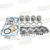Engine Overhaul Kit - Ford New Holland - Less Liners