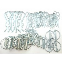 Linch Pins & R-Clips Pack x50 (6mm, 8mm, 11mm)