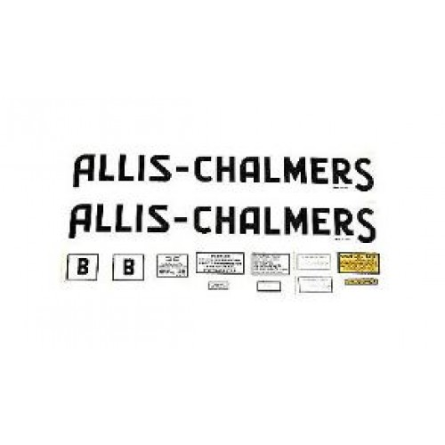 ALLIS CHALMERS MODEL B DECALS SET