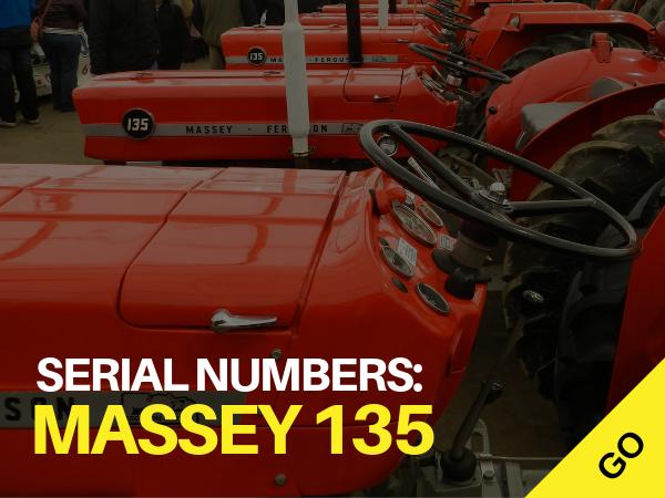 Massey 135 Serial numbers