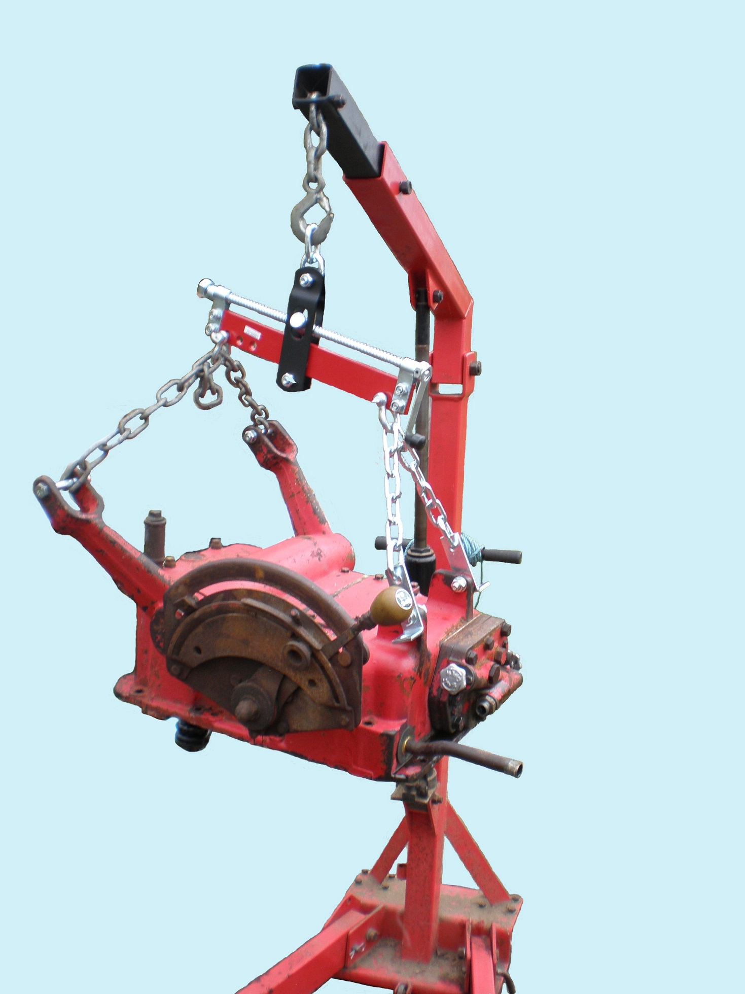 hydraulics on engine crane