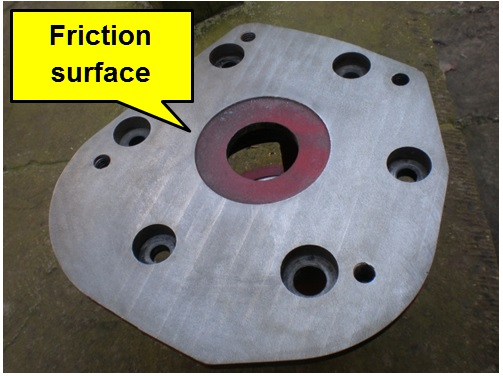 diff bearing housing showing friction face