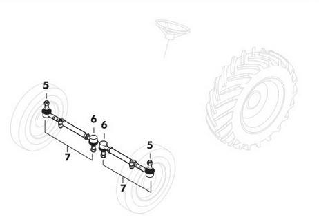 Track Rod End A41033 besides  on international clutch linkage diagram